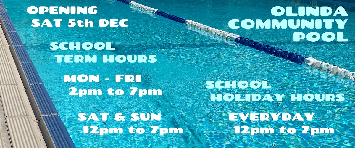 Olinda Community Pool Banner